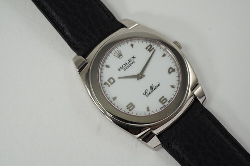 Rolex 5330 Cellini w/ box and booklets 18k white gold c. 2001 modern original for sale houston fabsuisse