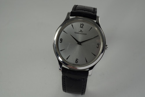 Jaeger LeCoultre 145.8.79s Master Control ultra thin stainless steel c. 2000's for sale modern pre owned houston fabsuisse