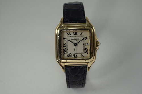 Cartier Panther 18k with deployment strap & box dates 1990's