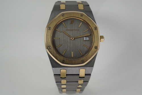 Audemars Piguet 56175TR Royal Oak tantalum & rose gold 1990's modern pre ownd for sale houston fabsuisse
