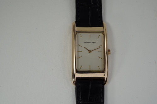 Audemars Piguet Rectangle Edward Piguet 18k rose gold mechanical wind c. 1990's