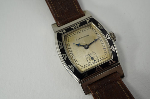 Hamilton Coronado 14k white gold original dates 1928 vintage pre owned for sale houston fabsuisse