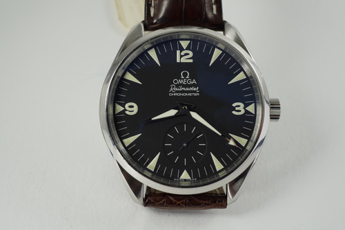 Omega 2806.52.37 Railmaster Seamster XXL Aqua Terra dates 2015 modern stainless steel pre owned for sale houston fabsuisse