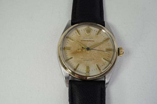 Rolex 6564 Oyster Perpetual tutone original dial dates 1957 vintage pre owned automatic for sale houston fabsuisse