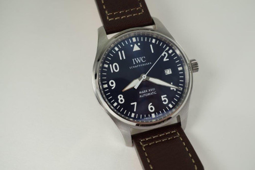 "IWC IW327010 Pilot's Watch Mark XVIII ""Le Petit Prince""  modern stainless steel automatic for sale houston fabsuisse"