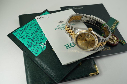Rolex 16233 Datejust tutone w/ box, papers and tags mint condition c. 2000 pre owned for sale houston fabsuisse