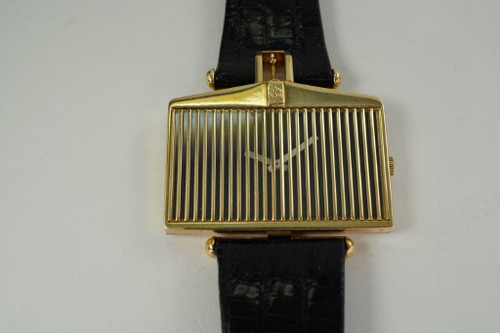 Corum 555.85 Rolls Royce Radiator Grill 18k yellow gold dates 1970's vintage pre owned for sale houston fabsuissev