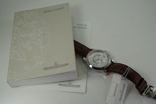 Jaeger LeCoultre 171.84.20 Hometime Limited Ed. w/ box & papers c. 2006 modern automatic for sale houston fabsuisse