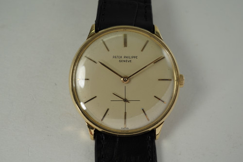 Patek Philippe 2573 Calatrava 18k yellow gold dates 1960's vintage pre owned for sale houston fabsuisse