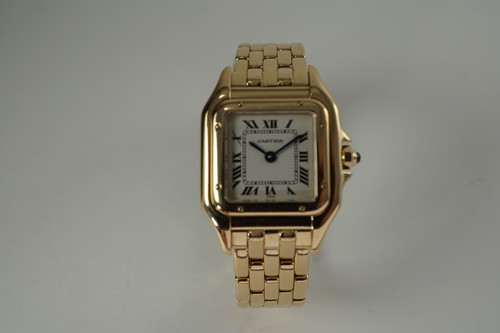 Cartier 1070 Panthere ladies 18k yellow gold w/ box dates 1990-2000's modern pre owned for sale houston fabsuisse