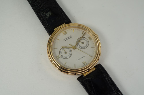 Van Cleef & Arpels Day Date LA Collection 18k automatic c. 2000's modern automatic for sale pre owned fabsuisse