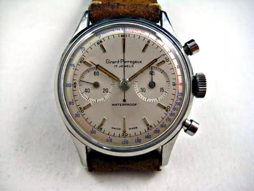 GIRARD PERREGAUX STAINLESS STEEL CHRONOGRAPH DATES 1960'S