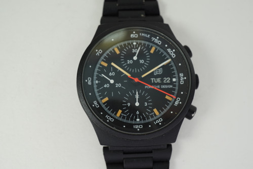 Porsche Design Chronograph PVD coated automatic day date c. 1970's pre owned for sale houston fabsuisse