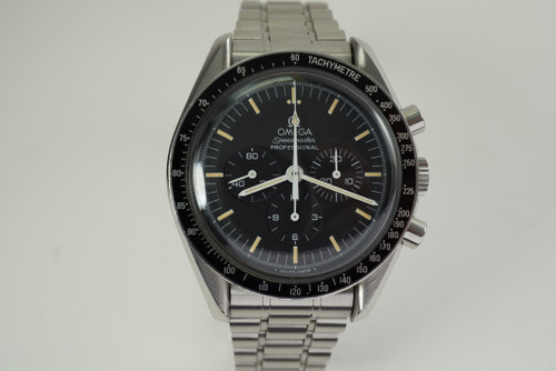 Omega 145022 Speedmaster Professional Chronograph unpolished c. 1980's pre owned for sale houston fabsuisse