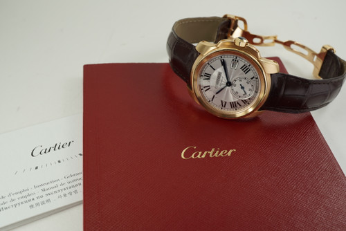 Cartier WGCA 0003 Calibre de Cartier 18k rose gold w/ box & papers c. 2019 modern automatic for sale houston fabsuisse