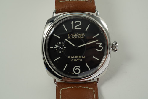 Panerai PAM 609 Black Seal 8 days stainless steel dates 2015 modern pre owned for sale houston fabsuisse