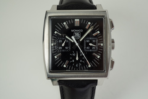 Tag Heuer CW2111-0 Monaco Chronograph automatic dates 2000's modern pre owned for sale fabsuisse