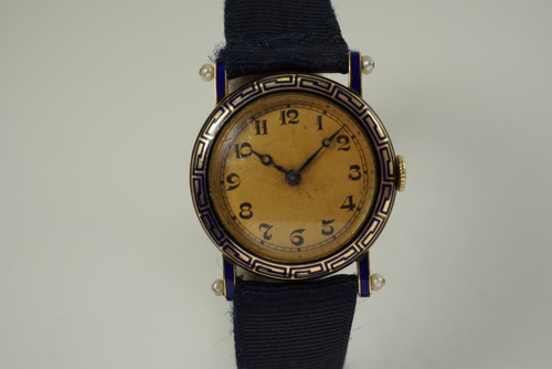 French Early Ladies  Wristwatch w/ seed pearls gorgeous 1920-30's vintage pre owned for sale houston fabsuisse