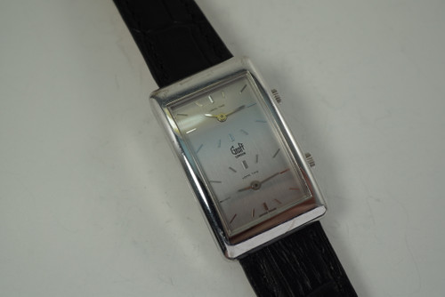 Chopard for Graff London Two Time Zone  18k white gold dates 1990's modern automatic for sale houston fabsuisse