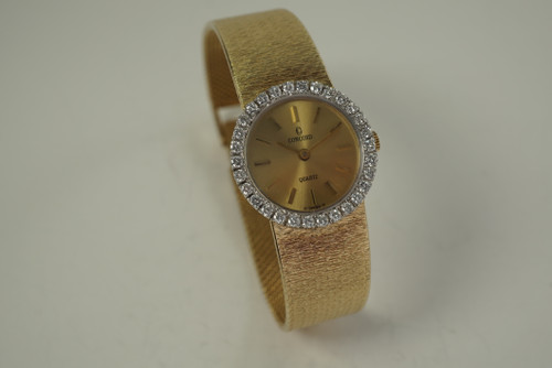 Concorde Ladies Diamond Bracelet Watch .75cts dates 1990's modern for sale houston fabsuisse