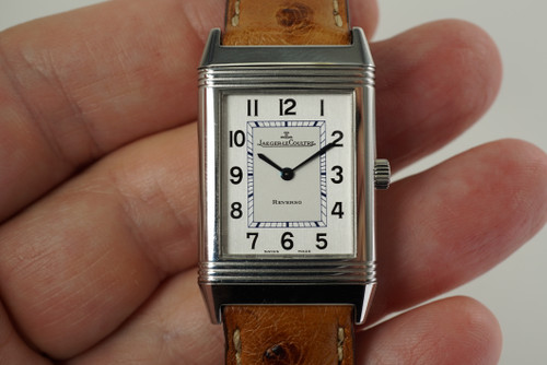Jaeger LeCoultre 252.8.08 Reverso 1000 hrs man's steel w/ depolyment c. 2000's modern pre owned for sale houston fabsuisse