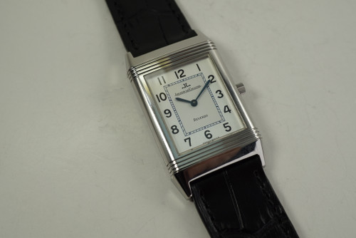 Jaeger LeCoultre 250.8.86 Reverso Classic stainless steel c. 2000's modern pre owned for sale houston fabsuisse