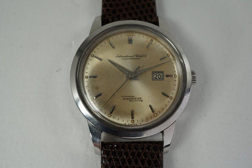 IWC Ingenieur rare stainless steel date automatic nice dates 1962 vintage for sale houston fabsuisse