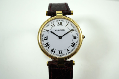 Cartier 881001 Vendome 18k yellow gold dates 1990's modern pre owned for sale houston fabsuisse