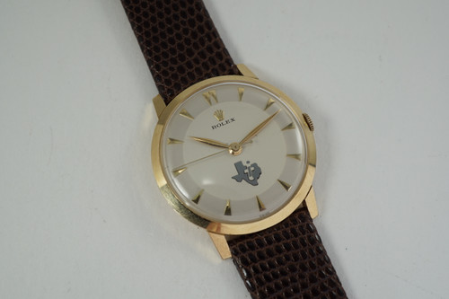 Rolex Precision award watch 14k yellow gold dates 1970'S vintage pre owned for sale houston fabsuisse