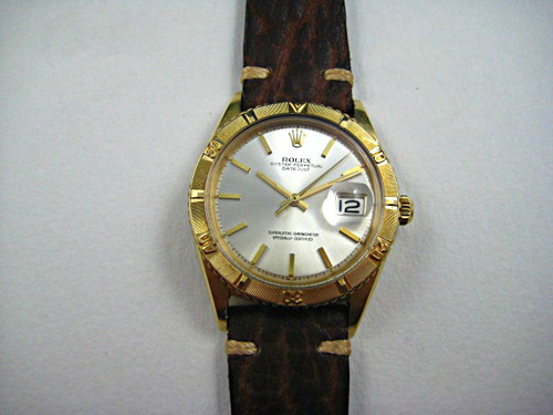 Rolex 1625 18k Thunderbird Dates 1964 yellow gold automatic for sale pre-owned houston fabsuisse