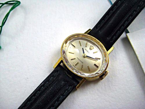Rolex 2636 18k wristwatch box, papers & tags & reciept 1970  vintage ladies for sale houston fabsuisse