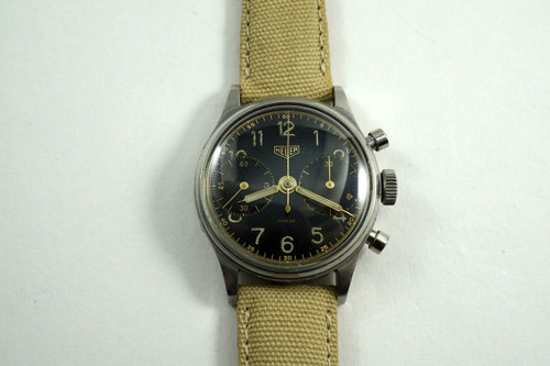 HEUER CHRONOGRAPH RETAILED BY TURLER 1950's VALJOUX 23