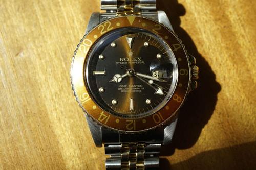 ROLEX 16753 STAINLESS STEEL & 18K GMT w/JUBILEE BRACELET 1979-80