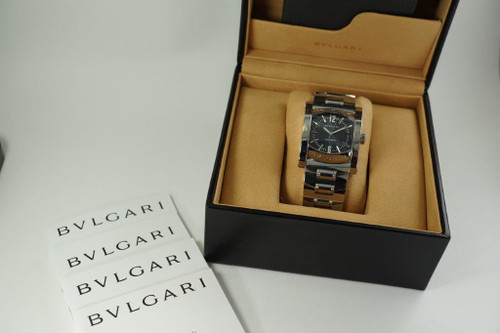 Bulgari AA44S Assioma  stainless steel automatic with box dates 2000'S for sale houston fabsuisse