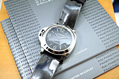 Panerai Pam 219 base luminor stainless steel complete box, books and card unworn c. 2011 for sale houston fabsuisse