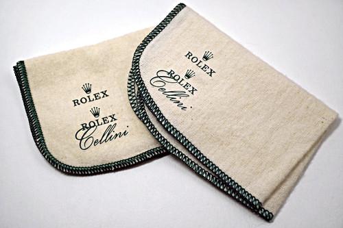 Rolex Cellini Polishing Cloths Dates 1980's vintage pre owned for sale houston fabsuisse