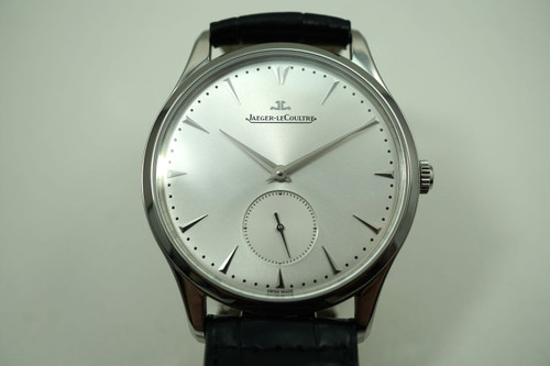 JAEGER LeCOULTRE MASTER GRAND 135.84.20 with BOX, PAPERS ULTRA THIN DATES 2015