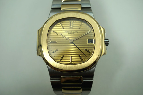 PATEK PHILIPPE NAUTILUS 3800 STEEL & 18K AUTOMATIC DATES 1980'S