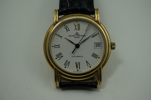 Baume Mercier Classima Executive 18k yellow gold c. 2000's modern for sale houston fabsuisse