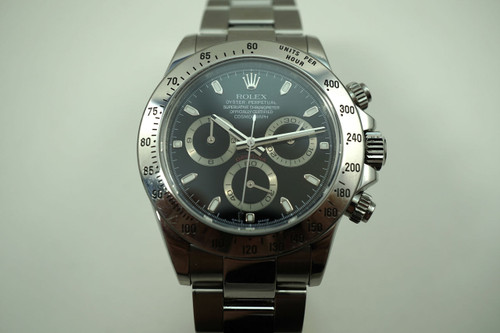 "ROLEX 116520 DAYTONA STAINLESS STEEL BLACK DIAL ""Z"" SERIES DATES 2006"