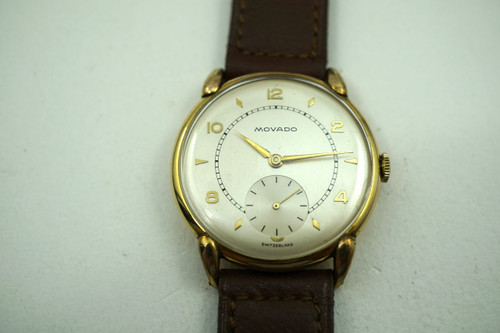 MOVADO ROUND NEW OLD STOCK with HANG TAG DATES 1940'S