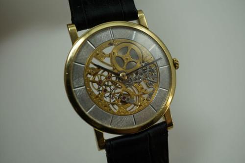 AUDEMARS PIGUET SKELETONIZED DRESS WATCH 18 K YELLOW GOLD DATES 1965-70