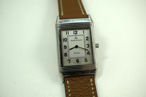 JAEGER LeCOULTRE REVERSO 250.8.86 STAINLESS STEEL CLASSIC DATES 1990'S