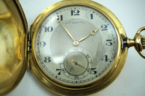 Vacheron Constantin hunting case Pocket Watch 18K Hausmann & Co. Roma Napoli for sale houston fabsuisse