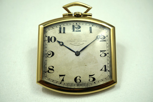 LONGINES-VINTAGE ART DECO 18K POCKET WATCH