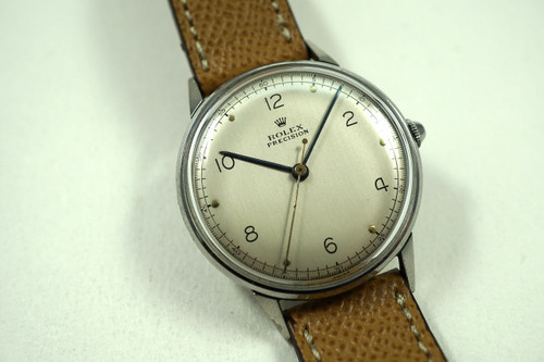ROLEX 4363 PRECISION STAINLESS STEEL DATES 1945
