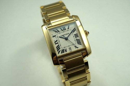CARTIER TANK FRANCAISE W50001R2 18K YELLOW GOLD AUTOMATIC LARGE