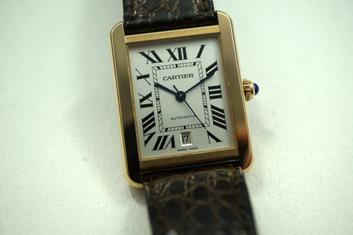 CARTIER TANK SOLO W5200026 18K PINK GOLD & STEEL XL MODEL