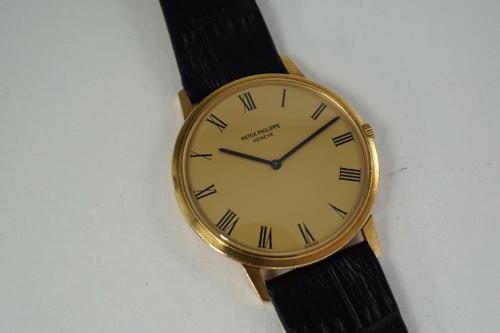 Patek Philippe 3588 dates 1970's automatic 18k yellow gold vintage for sale houston fabsuisse