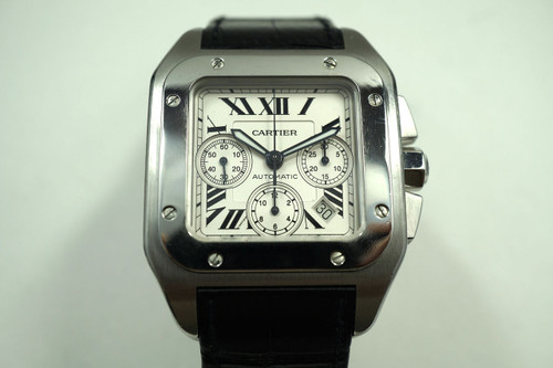 CARTIER SANTOS 100 CHRONOGRAPH STAINLESS STEEL W20090X8